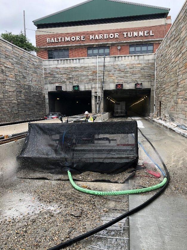Baltimore Harbor Tunnel entrance